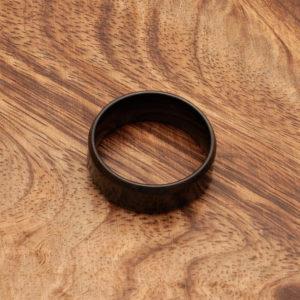 prstan črni obroč nerjaveče jeklo