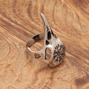 prstan lobanja krokarja nerjaveče jeklo