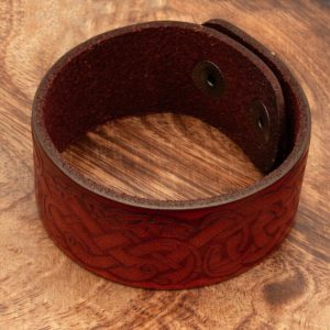 Rjava vikinška zapestnica z vozljem