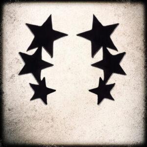 Uhani tris zvezdic