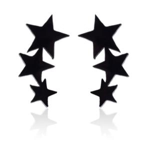 Uhani tris zvezdic nerjaveče jeklo