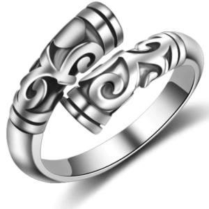 spiralni rog prstan tribal