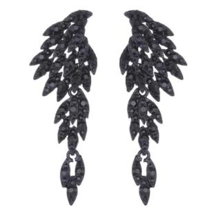 črni viseči uhani pegasova krila