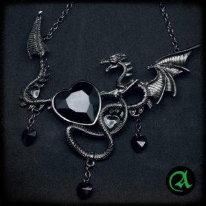 zmaj ogrlica metal
