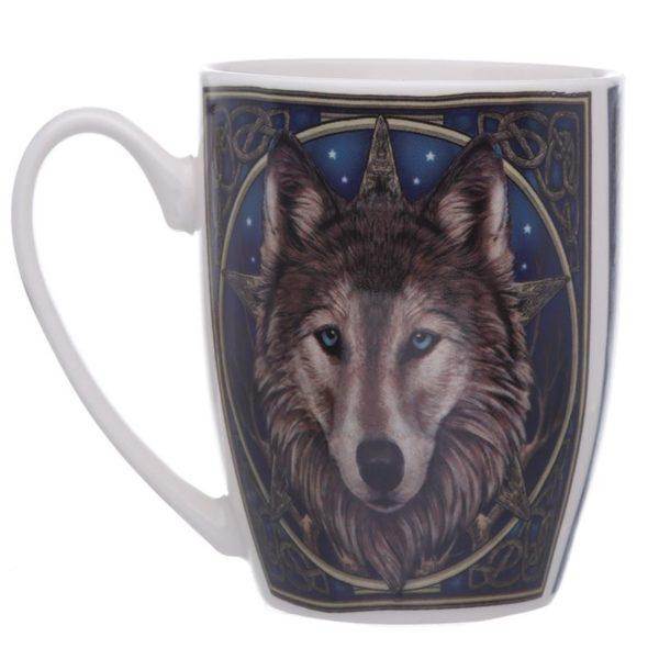Lisa Parker Design Wolf head skodelica z volkom
