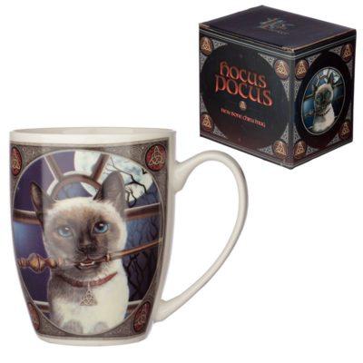 Lisa Parker Hocus Pocus skodelica z mačko v darilni škatli