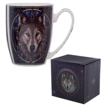 Lisa Parker Wolf Head skodelica volk v darilni škatli