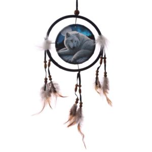wolf dream catcher Lovilec sanj BELI VOLK