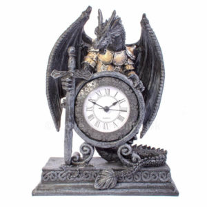 zmaj črna stoječa ura