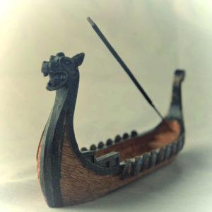 Vikinška ladja DRAKKAR stojalo za dišeče palčke