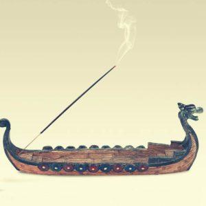 vikinško stojalo za dišeče palčke Dragon Ship