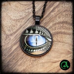 Črni stekleni obesek zmajevo oko