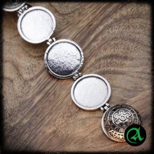 srebrni zviz obesek medaljon