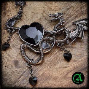 gotska ogrlica srce zmaj