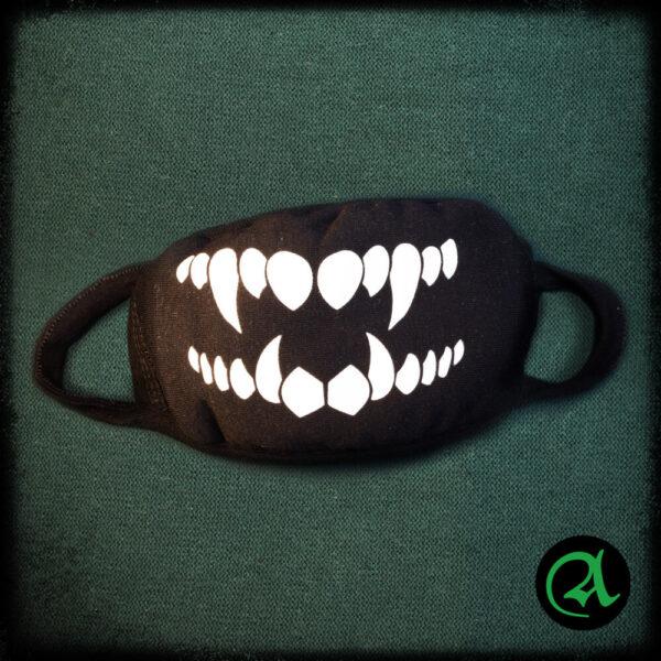 črna maska za obraz nasmeh