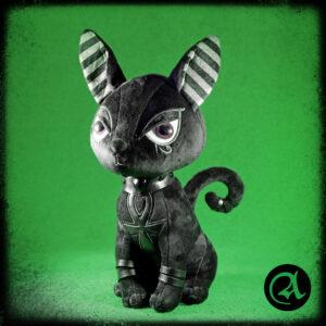 črna mačka pliš bestet