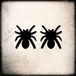 uhani črni pajki nerjaveče jeklo