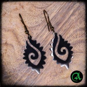 black earrings GALVORN