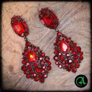 rdeči uhani viseči