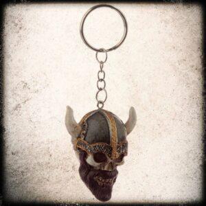vikinša lobanja obesek za ključe