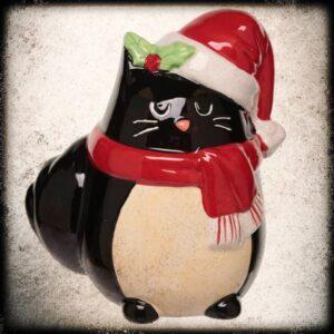 božični hranilnik Črna mačka
