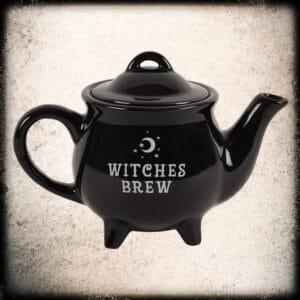 keramični črni čajnik