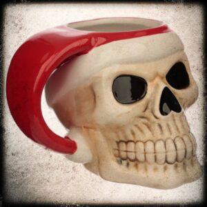 božična skodelica lobanja