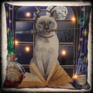 svetleča LED blazina dekorativna mačka