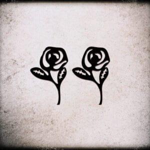 uhani črne vrtnice