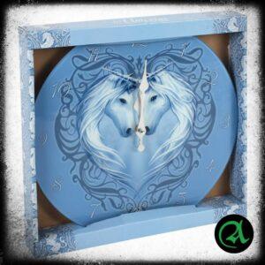 Modra steklena ura samorog