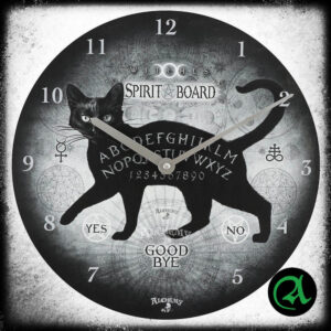 črna mačka ouija stenska ura